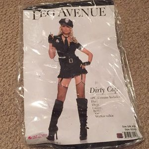 Dirty cop costume 6 pieces